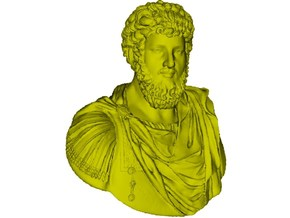 1/9 scale Roman emperor Lucius Verus bust in Frosted Ultra Detail