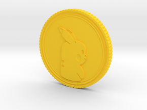 PokeCoin in Yellow Strong & Flexible Polished