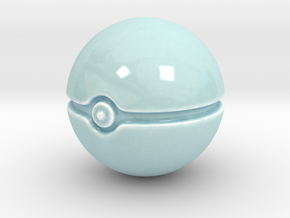 Pokeball  in Gloss Celadon Green Porcelain