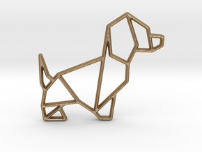 Origami Dog No.2 in Matte Gold Steel