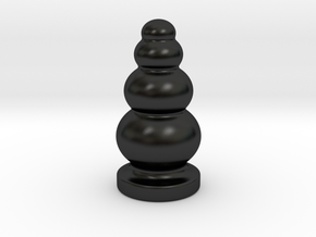 Porcelain Ball Stack Plug in Matte Black Porcelain