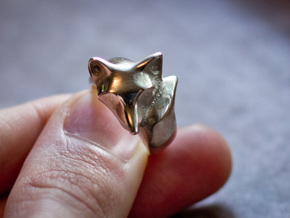 Fox Ring (size 7) in Polished Silver