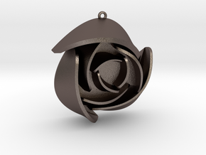 Rose Pendant A in Stainless Steel