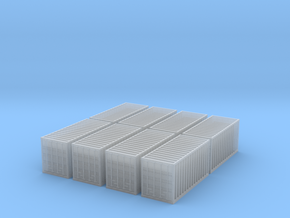 T Gauge 20' Containers in Frosted Extreme Detail