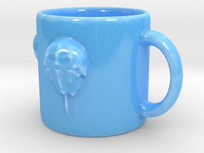 Horseshoe Crab Mug in Gloss Blue Porcelain