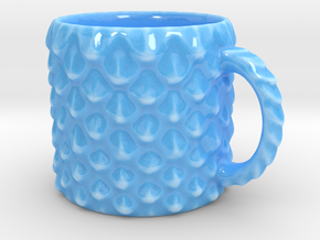 Dragon Scale Coffee Mug  in Gloss Blue Porcelain