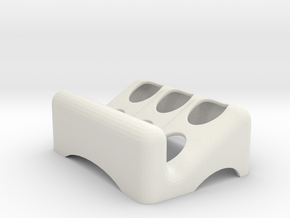 Soap Dish 5W in White Strong & Flexible
