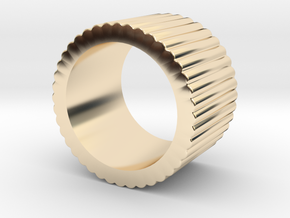 """Spinning Gear - Ingranaggi"" Band Ring (Fascia) 17 in 14k Gold Plated"
