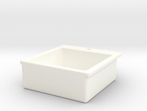 Miniature Doll House Kitchen Sink B, 1:12 in White Strong & Flexible Polished
