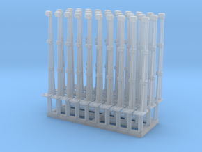 1:48 Jetty Railing Posts Set of 30 in Frosted Ultra Detail
