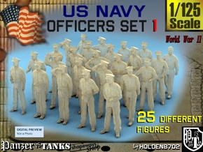 1-125 USN Officers Set1 in Frosted Ultra Detail