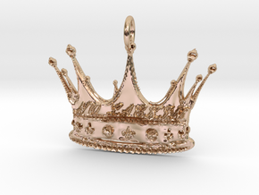 NO LACKIN CROWN1 Pendant in 14k Rose Gold Plated