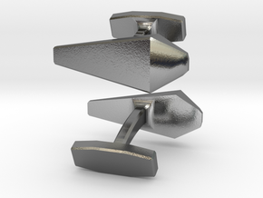 Trapezium Cufflinks in Polished Silver