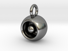 Levitation Sphere Pendant in Polished Silver
