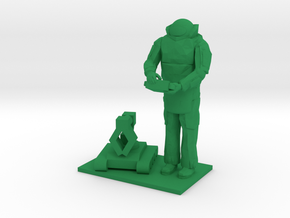 Explosive Ordinance Disposal, EOD w Robot, 1/64 in Green Strong & Flexible Polished