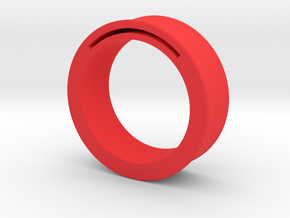 Simple Band-Nfc-Rfid Ring in Red Strong & Flexible Polished