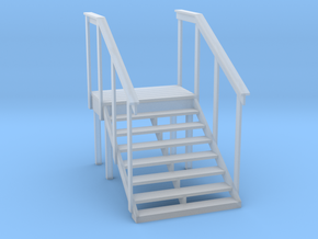 MOF Red Barn Office Stairs - 72:1 Scale in Frosted Ultra Detail
