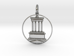 Brooklyn Pendant With Loop in Raw Silver