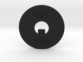 Clay Extruder Die: Rim 001 02 in Black Strong & Flexible