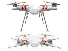 DJI Phantom Foldable Landing Gear in White Strong & Flexible