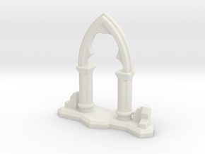 6mm Scale Gothic Arch Ruin in White Strong & Flexible