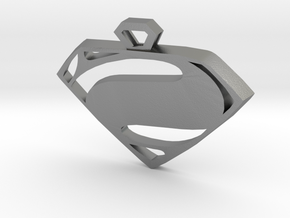 Superman Man of Steel pendant in Raw Silver