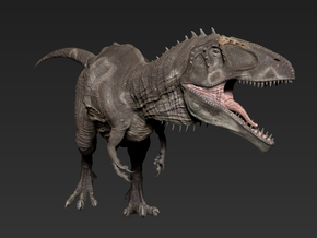 Giganotosaurus middle size in White Strong & Flexible