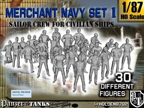 1/87 Merchant Navy Crew Set 1 in Frosted Ultra Detail