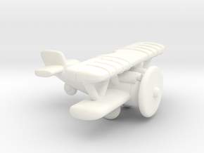 Wolf Fighter Plane in White Strong & Flexible Polished