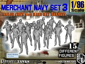 1-96 Merchant Navy Set 3 in Frosted Ultra Detail