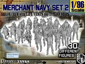 1/96 Merchant Navy Crew Set 2 in Frosted Ultra Detail