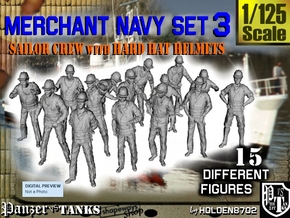 1-125 Merchant Navy Set 3 in Frosted Ultra Detail