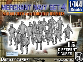 1-144 Merchant Navy Set 4 in Frosted Ultra Detail