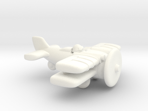 Jackal Fighter Plane in White Strong & Flexible Polished