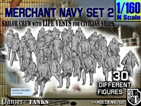 1/160 Merchant Navy Crew Set 2 in Frosted Extreme Detail