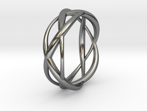 Lissajous Ring 17mm, 3-5-7 in Polished Silver