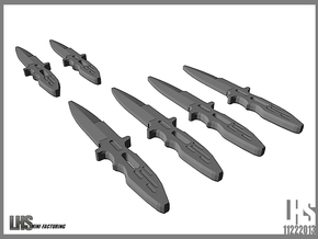 1/6 scale  Elite Forces Boot Knives X6 in White Strong & Flexible