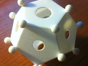roman dodecahedron in White Strong & Flexible