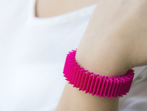 Spike Bracelet - Flexible Medium Size in Pink Strong & Flexible Polished