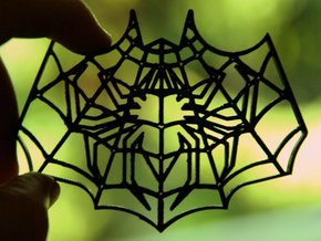 Spider-Bat Cookie Cutter (3 layers, 10 mm) in White Strong & Flexible
