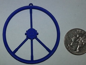 Peace Sign Dirtbike Wheel in White Strong & Flexible