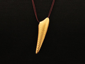 Shelx Pendant (#2413) in Matte Gold Steel