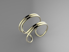 Paperclip Ring in Polished Brass