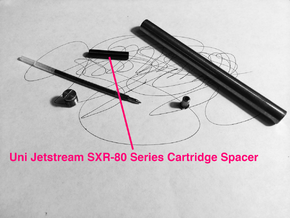 Uni Jetstream SXR-80 Spacer for Pen Type-A in Metallic Plastic