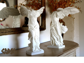 """Winged Victory (25"""" tall) in White Strong & Flexible"""