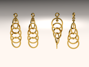 Ring Earrings (rotating) in Frosted Ultra Detail