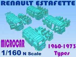 1-160 R-Estafette Microcar SET in White Strong & Flexible