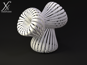 Triple Klein Bottle in White Strong & Flexible