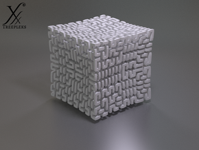 Square 3D Hilbert curve (4th order) in White Strong & Flexible