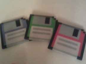 Floppy Disks (3 pack) in Full Color Sandstone